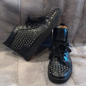 13ef1d934d2 Christian Louboutin Shoes - Black spike Christian Louboutin high top